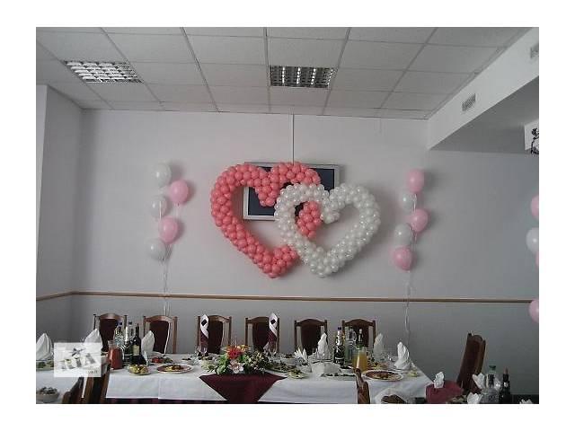 купить бу Шарики на свадьбу (Киев) заказ шаров на свадьбу, сердце на свадьбу в Киеве в Киеве