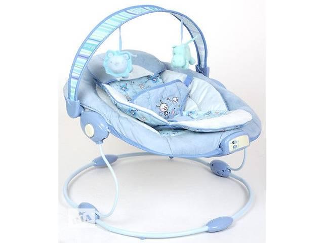 продам Шезлонг-качалка детский 60682  7 мелодий, вибро,2 положения,съемная арка,подвески2шт, бу в Ровно