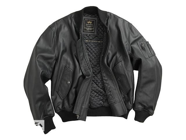 Шкіряна чоловіча льотна куртка MA-1 Leather Alpha Industries, США- объявление о продаже  в Львове