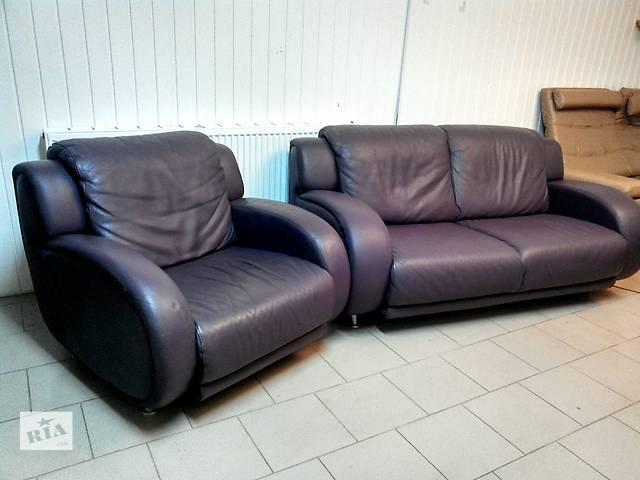 Кожаный диван + кресло из Германии- объявление о продаже  в Львове