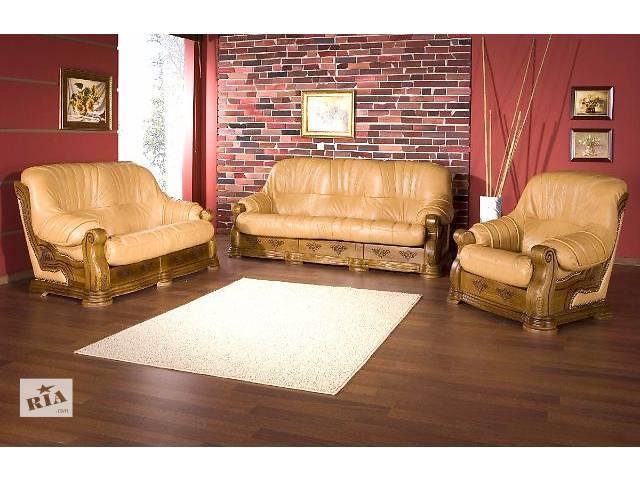 купить бу Шкіряний гарнітур на дубі, мебель на дубовом каркасе, мебель с Европы в Дрогобыче