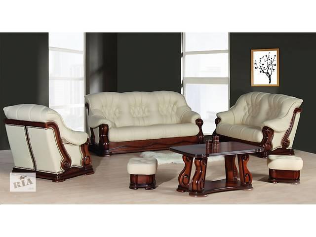 купить бу Шкіряний комплект Luxur на дубі,кожаный комплект на дереве, кожаный диван в Дрогобыче