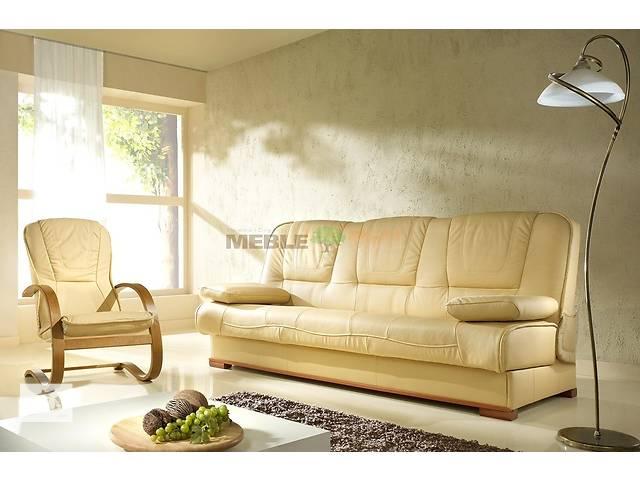 бу кожаный комплект раскладной диван + 2 кресла-качалки,кожаная мебель Польша в Дрогобыче