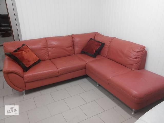бу Кожаный угловой диван раскладной в Львове