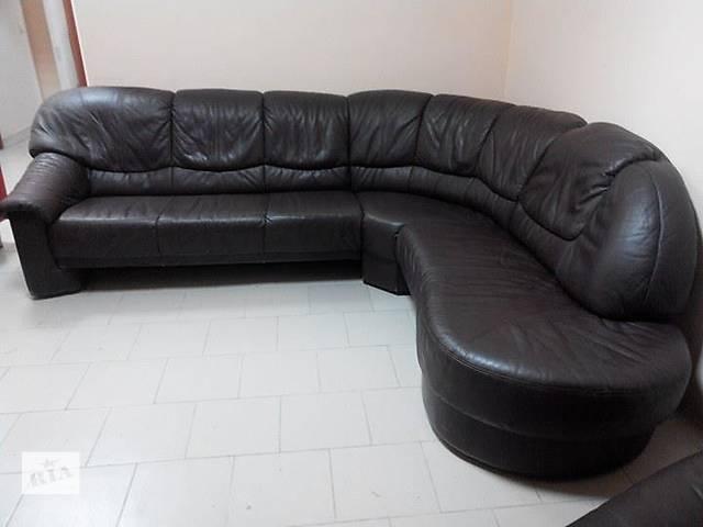 купить бу Кожаный угловой диван в Львове