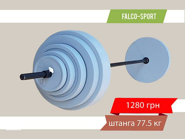 продам Штанга разборная 77 кг, гриф 25 мм бу в Николаеве