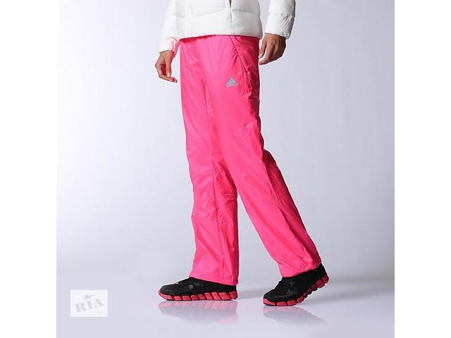 Утепленные штаны адидас женские