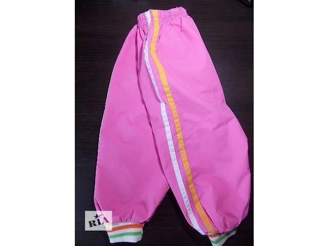 купить бу Штаны (штанишки) тёплые на флисе для девочки (1-1,5 года, р.70–82см)  в Киеве
