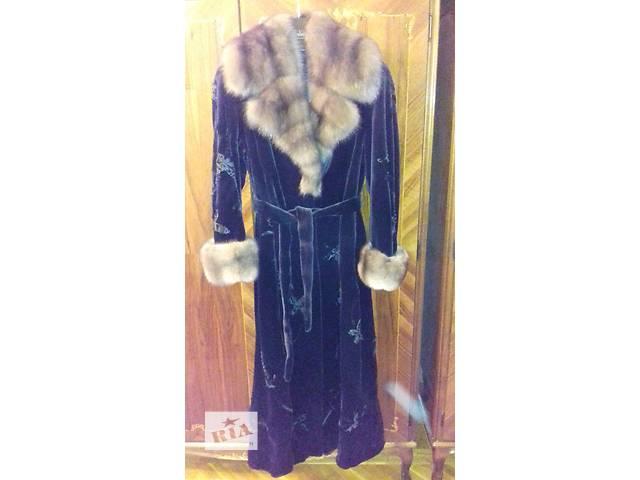 бу Шуба из стриженой черной норки впол Saga Furs Royal в Днепре (Днепропетровске)