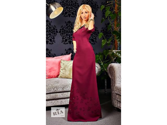 Шикарное длинное платье с перфорацией- объявление о продаже  в Хмельницком