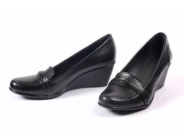 купить бу Шикарные кожаные туфли, 37р - 24см, Новые в Киеве