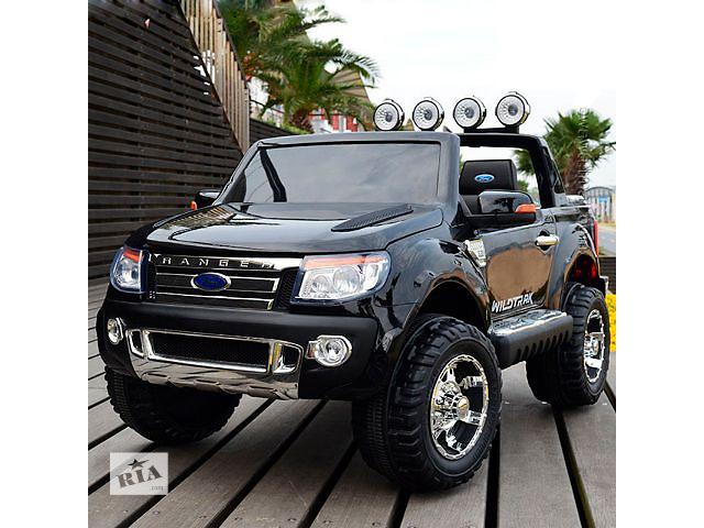Шикарный Детский электромобиль FORD RANGER F-150: 2 места, 90W, 9 км/ч - BLACK- объявление о продаже  в Одессе