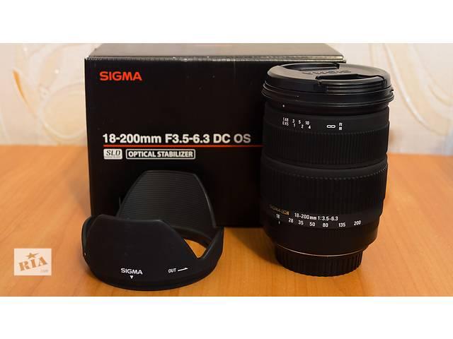 продам Sigma 18-200 f/3.5-6.3 DC OS ! Для Canon ! бу в Бердянске