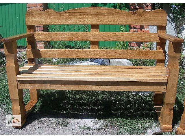 купить бу Скамейка садовая из массива дуба в Виннице