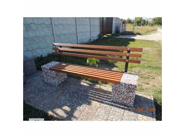 продам Скамейка садовая, лавочка парковая, скамья бетонная для дачи бу в Харькове