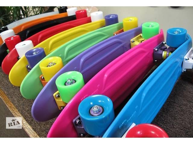 Скейт Penny Board (пенни борд) яркие цвета полиуретановые колеса- объявление о продаже  в Ровно