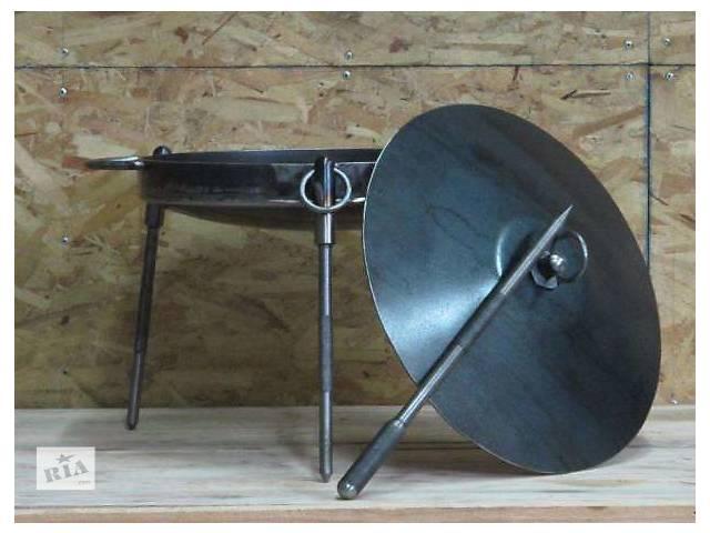 Сковорода из диска бороны с крышкой для костра- объявление о продаже  в Каменец-Подольском
