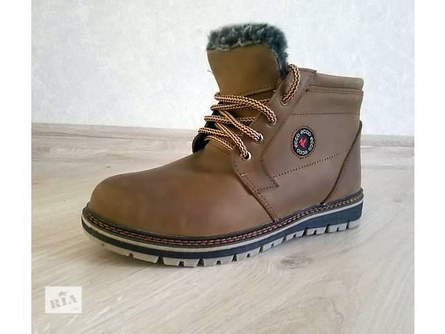 Скидка -25% мужские зимние ботинки ecco коричневые с мехом- объявление о продаже  в Киеве