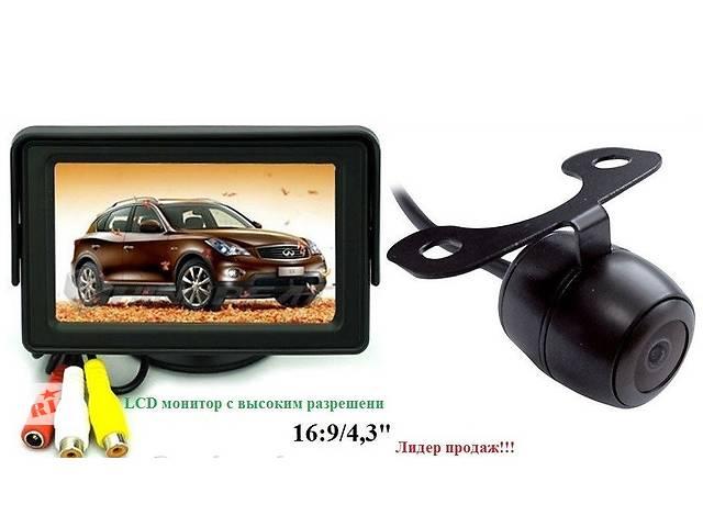 продам Цветной Монитор 4,3дюйма, 2 видеовхода + камера заднего вида бу в Киеве
