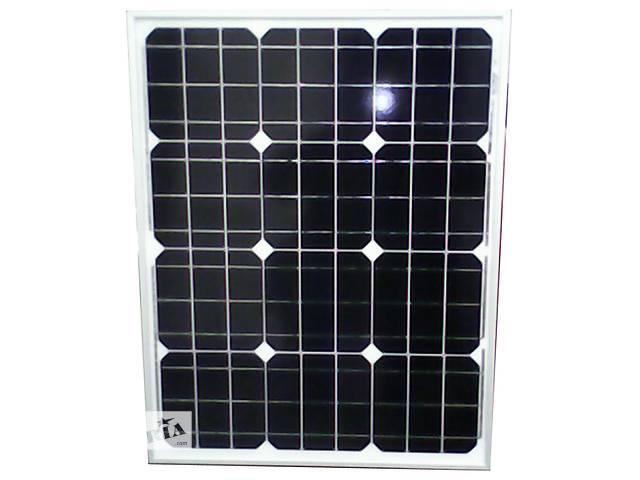 бу Солнечная батарея (панель) 50Вт, 12В, монокристаллическая в Запорожье