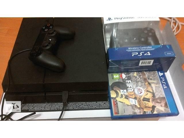 купить бу Sony PlayStation 4  1TB (PS4) + 2 gamepad DualShock4 + Fifa 17 в Дрогобыче