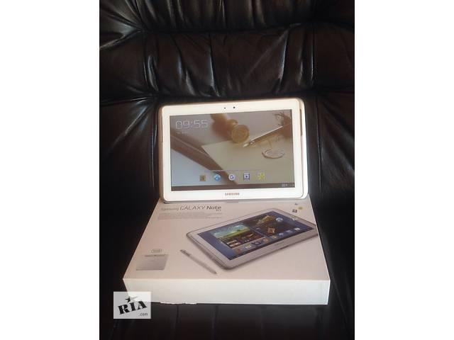 купить бу СОСТОЯНИЕ 5+! Планшет Samsung Galaxy Note 10.1 GT N8000 3G 16 Гб white в Киеве