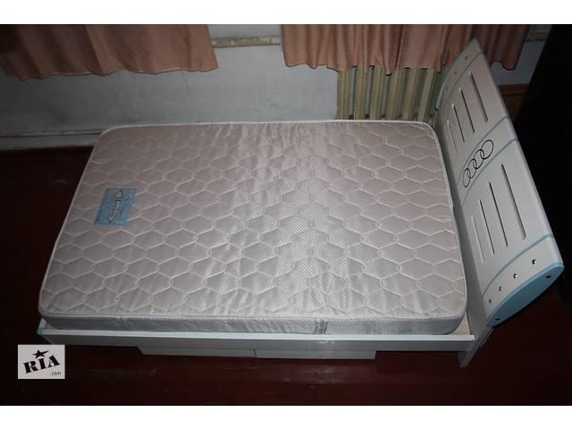 продам Современная кровать с матрасом 1200х1900 в хорошем состояни бу в Запорожье