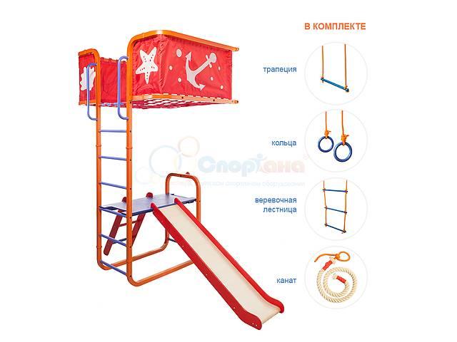 купить бу Спорткомплекс с балконом и горкой Юнга-006 в Николаеве