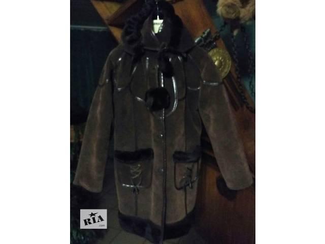 продам Дубленка с капюшоном для девочки 8-12 лет бу в Червонограде