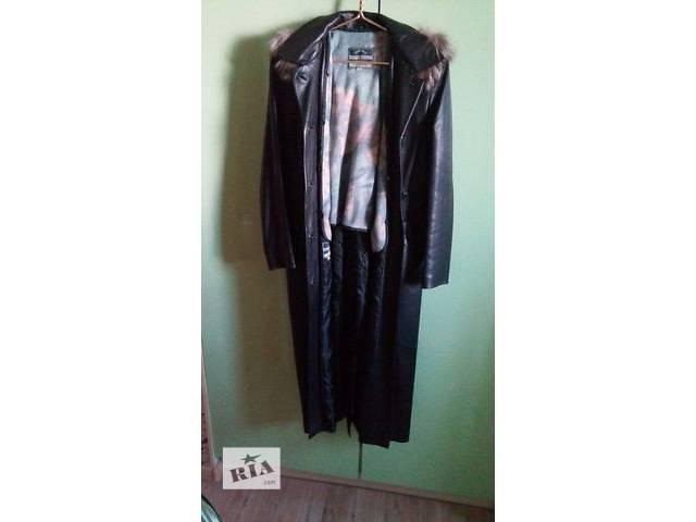 Срочно!Продам кожаное пальто с мехом чернобурки!- объявление о продаже  в Киеве