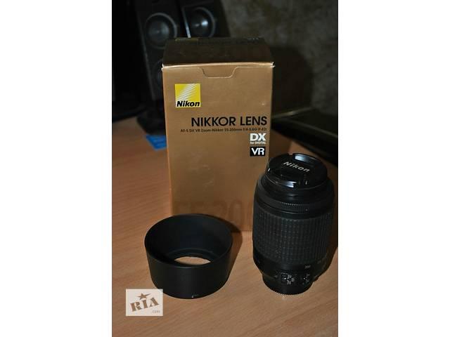 купить бу Срочно продам новый объектив 55-200mm f/4.-5.6g vr в Харькове
