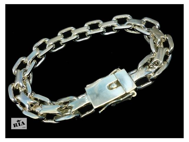 Купить серебряный браслет мужской фото