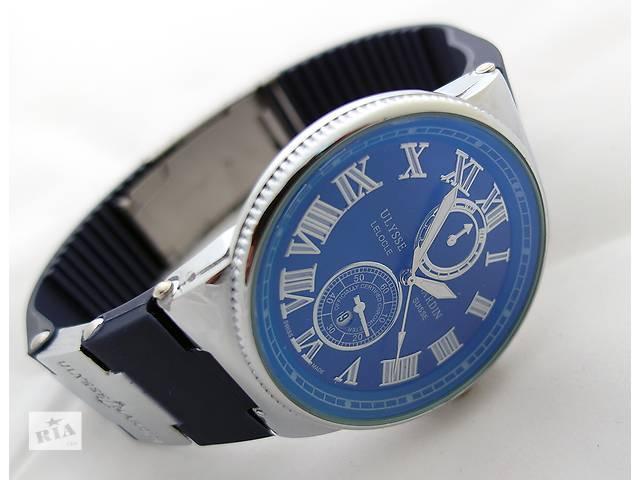 продам Стальные часы - Ulysse Nardin - Le Locle на синем каучуковом ремешке бу в Харькове