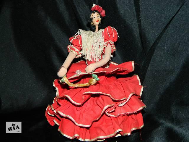 бу Старая Войлочная Кукла Spanish Flamenco Dancer Doll Roldan 1950 в Тернополе