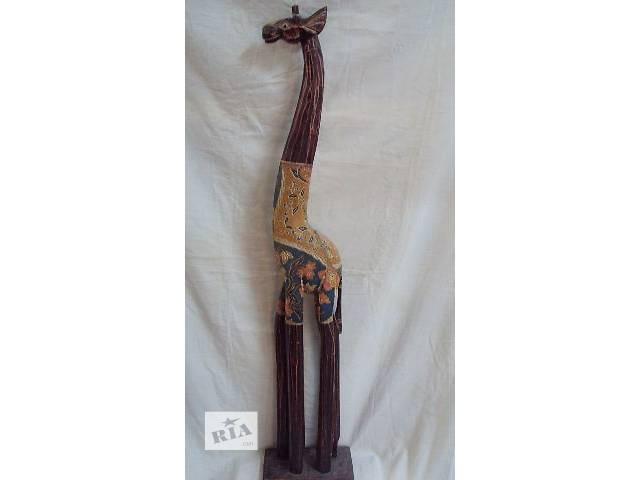купить бу Статуэтка деревянная зебра,жираф в Киеве