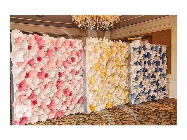 Как сделать стену из бумажных цветов своими руками