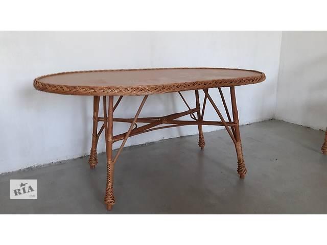 продам Стол 140-90см простой из лозы бу в Львове