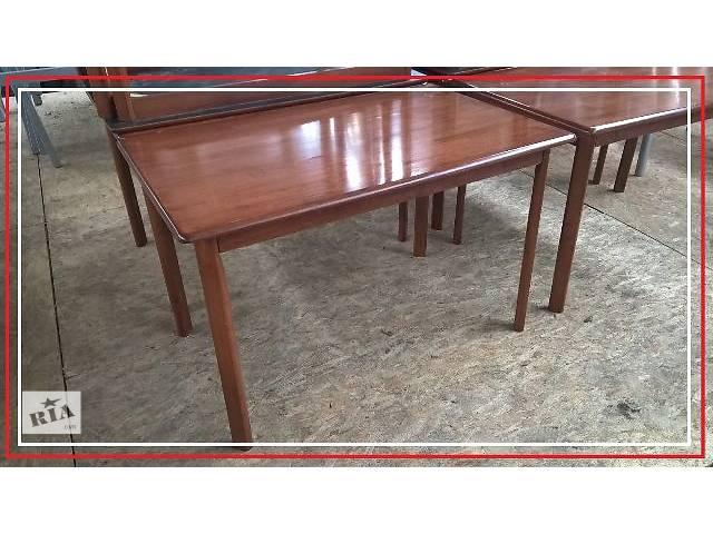продам Стол деревянный массив коричневый лакированный б/у бу в Киеве