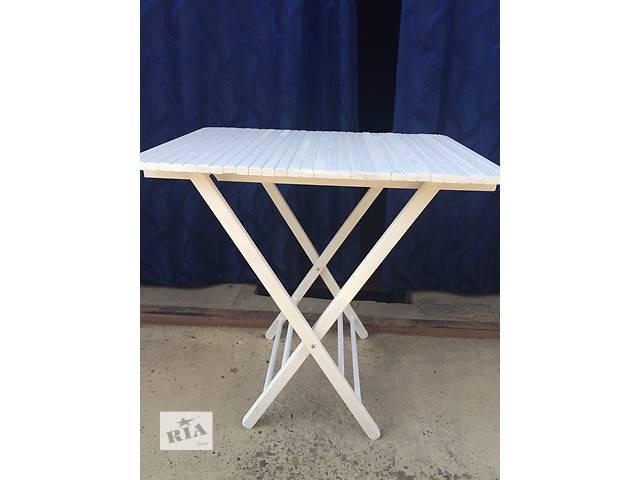 продам Стол деревянный складной белый, натуральный бук бу в Мукачево