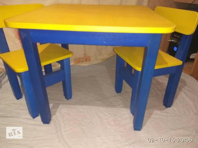 купить бу Стол детский деревянный со стульчиками в Харькове