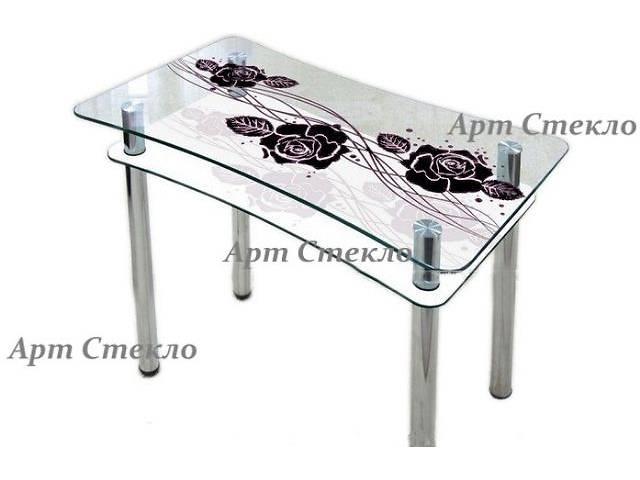 бу Стол обеденный из стекла с рисунком в Дружковке