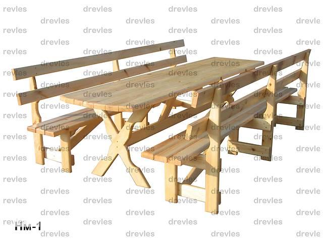 бу Стол и 2 скамейки для сада, дачи в Чернигове