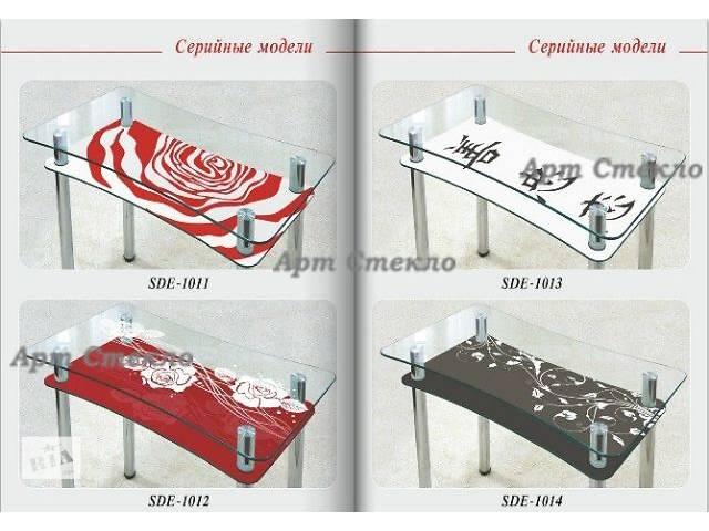 бу Столы обеденные из стекла с полкой в Дружковке