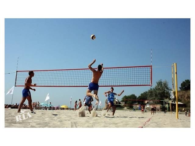 купить бу Стойки для пляжного волейбола, сетка, разметка – от производителя в Киеве
