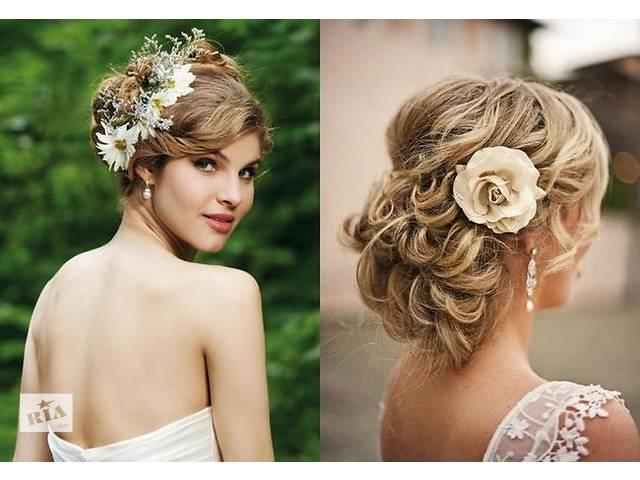 Причёски на свадьбу средняя длина волос
