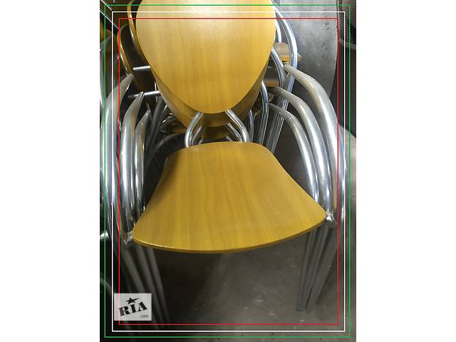 бу Стул дизайнерский б/у Simphony от МВ Италия алюминиевый с деревянным сидением и спинкой  в Киеве