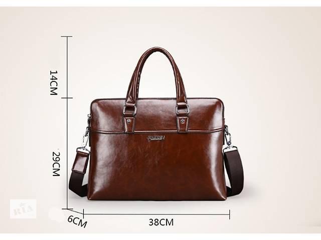 купить бу Стильная брендовая мужская сумка JINGPINPG. Размер 38-30-8 см. в Киеве