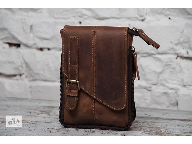 Стильная мужская компактная сумка на пояс.Ручная работа.100% кожа- объявление о продаже  в Киеве