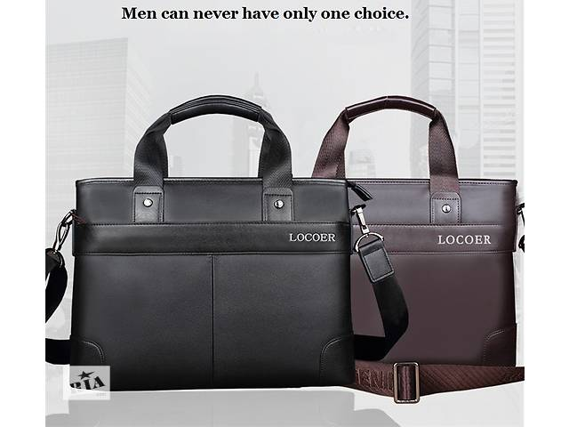 купить бу Стильная мужская сумка Locoer. 2 размера. Много Вариантов сумок в Киеве