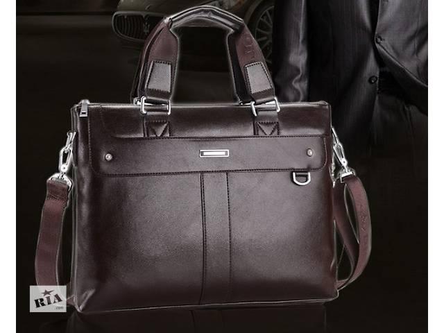 бу Стильная мужская сумка-портфель с ручками. Размер 38-30-8 см. Варианты в Киеве